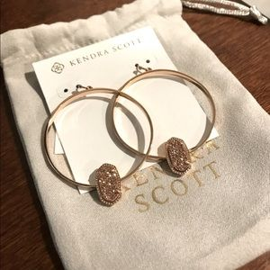 Kendra Scott Elora Rose Gold Hoop Earrings